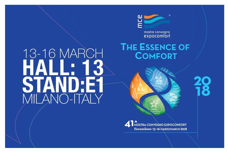 13-16 Mart tarihleri arasında Mostra Convegno Expocomfort'dayız !