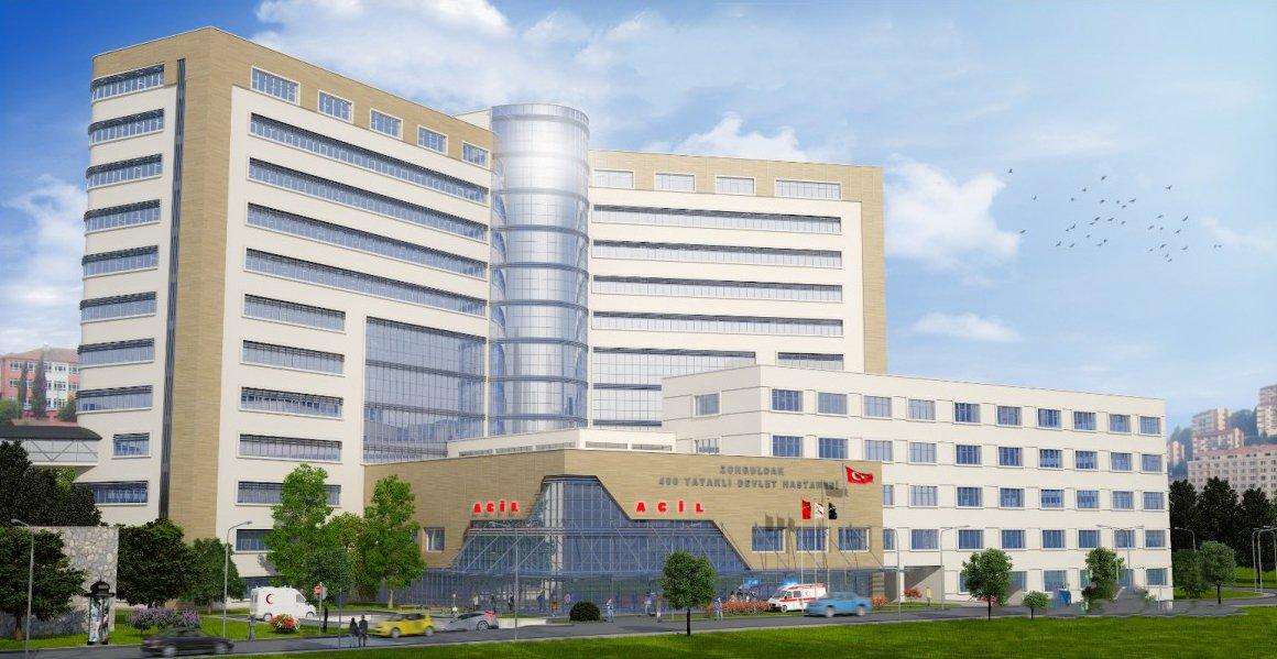 Zonguldak'a modern ve yüksek kaliteli yeni hastane.